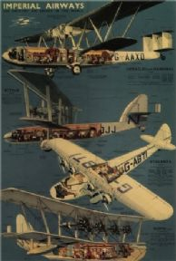 Vintage Travel Poster Imperial Airways 1939